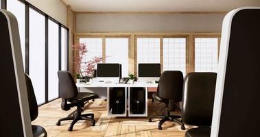 simulação de sala de computador animação de escritório