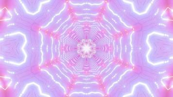 ilustração em 3D do caleidoscópio abstrato em forma de estrela vj loop