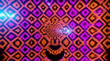 loop vj illustrazione al neon altamente astratto