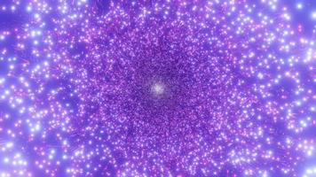brilhante espaço partículas galáxia ilustração 3d vj loop