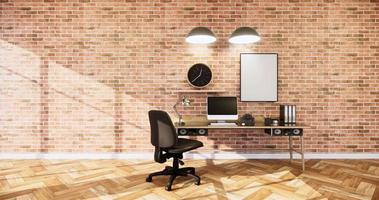 Empty Loft style with exposed brick wall design video