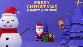 Big snowman, Merry Christmas and Happy new year. video