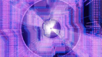 puntini al neon hud tunnel fly illustrazione 3d concerto visual vj loop