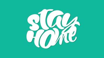 Stay Home Animated Text video
