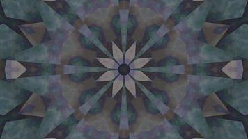 fumaça abstrata estrela caleidoscópio ilustração 3d vj loop video