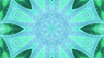 art abstrait en forme d'étoile illustration 3d visuel vj boucle