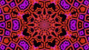 illustration 3d de néon clignotant abstrait psychodélique boucle vj video
