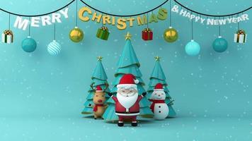feliz natal e feliz ano novo festival.