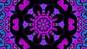 formas brilhantes abstratas padrão de mandala ilustração 3d vj loop video