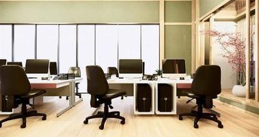 animação de sala de escritório verde