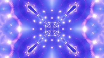 Luces de neón en movimiento formando formas y formas geniales ilustración 3d