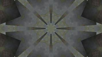 estrela abstrata fumaça tóxica ilustração 3d caleidoscópio vj loop video