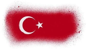 Revelación de la bandera de Turquía con máscara de salpicadura de pincel video