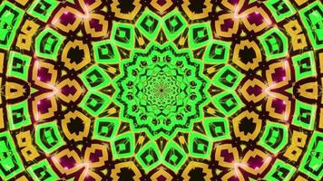 amarillo verde abstracto parpadeante 3d ilustración visual vj loop