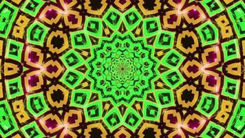 jaune vert abstrait clignotant illustration 3d visuelle boucle vj