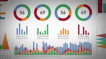 estatísticas de negócios, dados de mercado e layout de infográficos