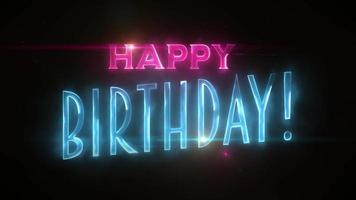 animação de cartão postal de mensagem de feliz aniversário video