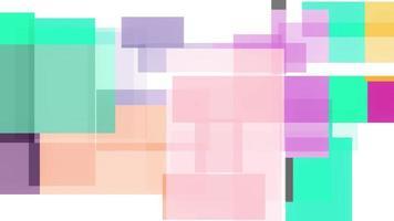 quadrados geométricos coloridos abstratos estilo vintage video
