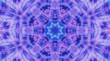 pontos de néon piscando estrela caleidoscópio ilustração 3d vj loop video