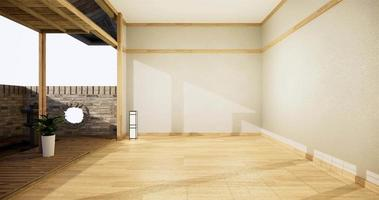 Animation Open room white on wooden floor interior design video