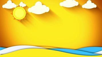 fundo de animação do sol