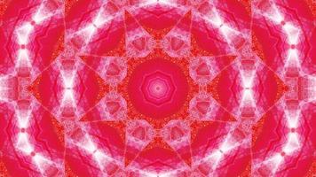 stella rossa arte astratta caleidoscopio mandala