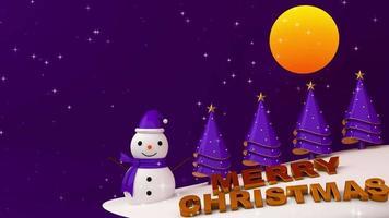 feliz natal noite com neve