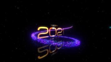 bonne année 2021 texte de voeux avec des particules magiques
