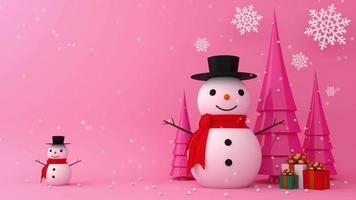 feliz natal e feliz ano novo com neve video