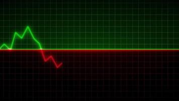 Green and Red Neon Stock Market Graph video