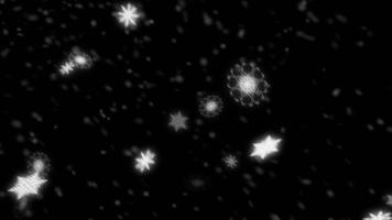 Falling Snowflakes Particles Loop for Overlay