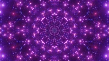 clignotement des lumières de particules de néon illustration 3d boucle vj
