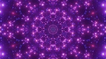 Luzes de partícula de néon piscando ilustração 3d vj loop video
