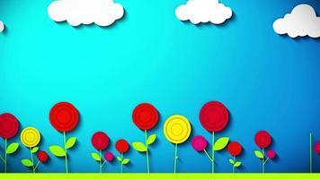 fondo de animación de flores