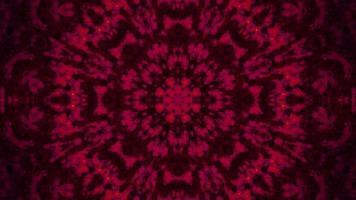 Boucle vj illustration 3d kaléidoscope avec mandala d'art abstrait rouge