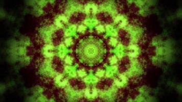 patrón de mandala de caleidoscopio de humo marrón verde