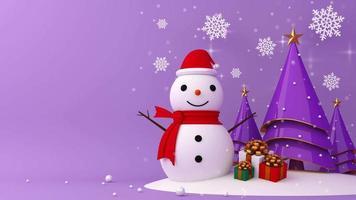 Weihnachtsbaum und Geschenkbox Vorlage