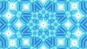 vj boucle 3d illustration bleu art abstrait kaléidoscope mandala