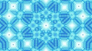 vj loop 3d illustrazione blu arte astratta caleidoscopio mandala