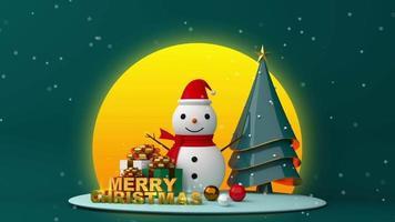 feliz natal na lua