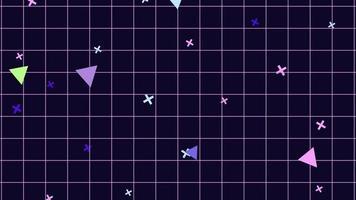 fondo de cuadrícula de patrón de juego de estilo retro