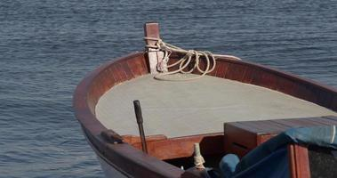 Wooden Fishing Boat And The Sea Waves video