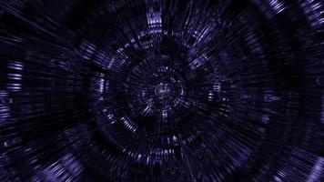 vj loop 3d illustrazione tunnel di vetro con effetti di luce