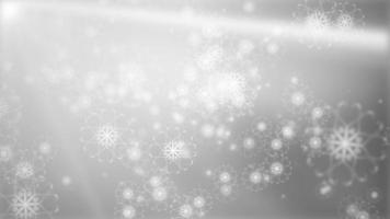 Weihnachtsfackeln leichter Winterschnee fallende Schneeflockenschleife