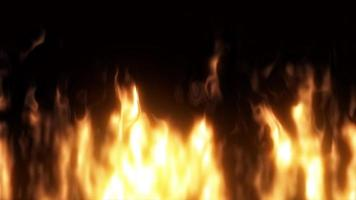 Motion of Realistic Burning Fire. video