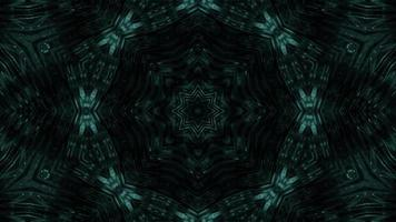 VJ loop 3d illustration star shapes kalaidoscope pattern mandala