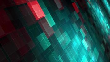 grüner Farbverlauf blau rot neon digitale Mosaikschleife