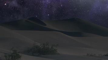 paysage désertique avec des étoiles video
