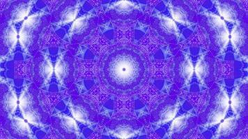 ciclo di vj illustrazione 3d a forma di stella con mandala kalaidoscopio blu