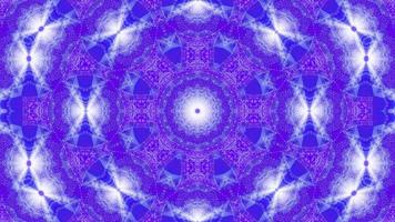 Boucle vj illustration 3d en forme d'étoile avec mandala kalaidoscope bleu